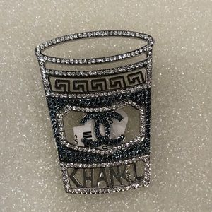 Authentic Chanel coffee cup brooch 😍😍